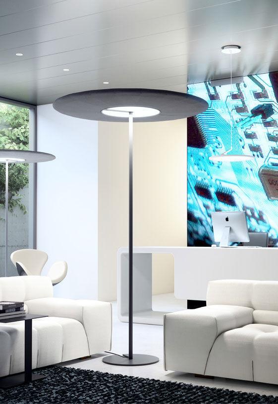 floor standing lamps for living room. Floor standing lamp  contemporary aluminum for architectural lighting SONIC by Michael Schmidt