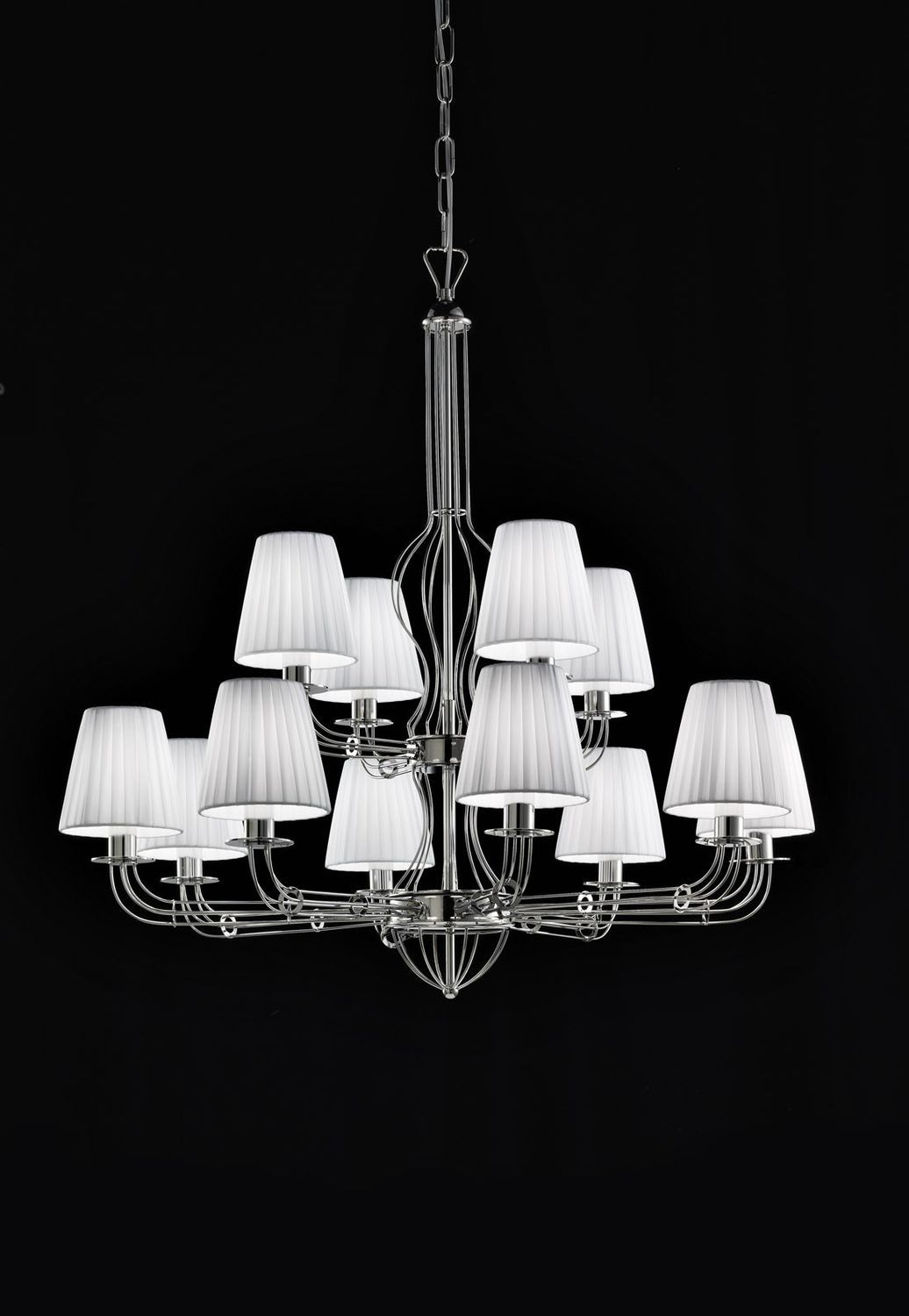 Contemporary chandelier metal fabric led calle metal lux contemporary chandelier metal fabric led calle metal lux arubaitofo Image collections