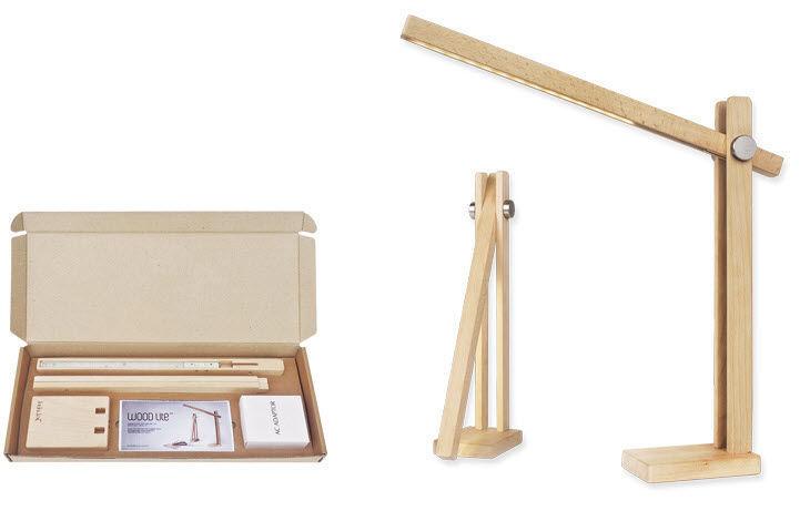 Desk Lamp Contemporary Wooden Orientable Lite Feelux