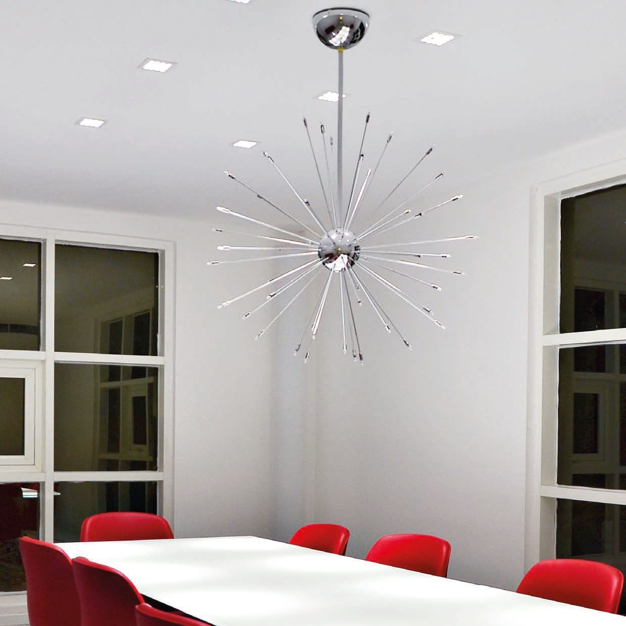 Recessed downlight / LED / square / stainless steel - ANDROMEDA Q by Carla  Baratelli
