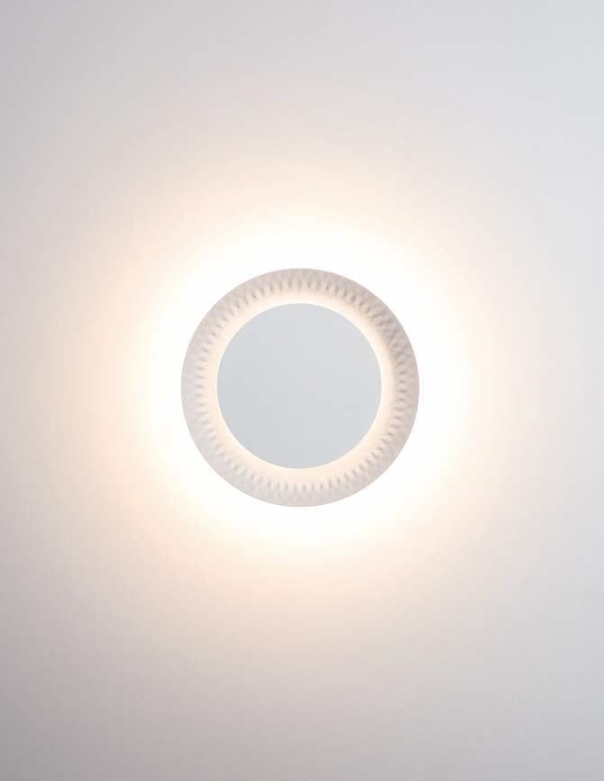 Contemporary wall light plastic led round shine karboxx contemporary wall light plastic led round shine aloadofball Choice Image