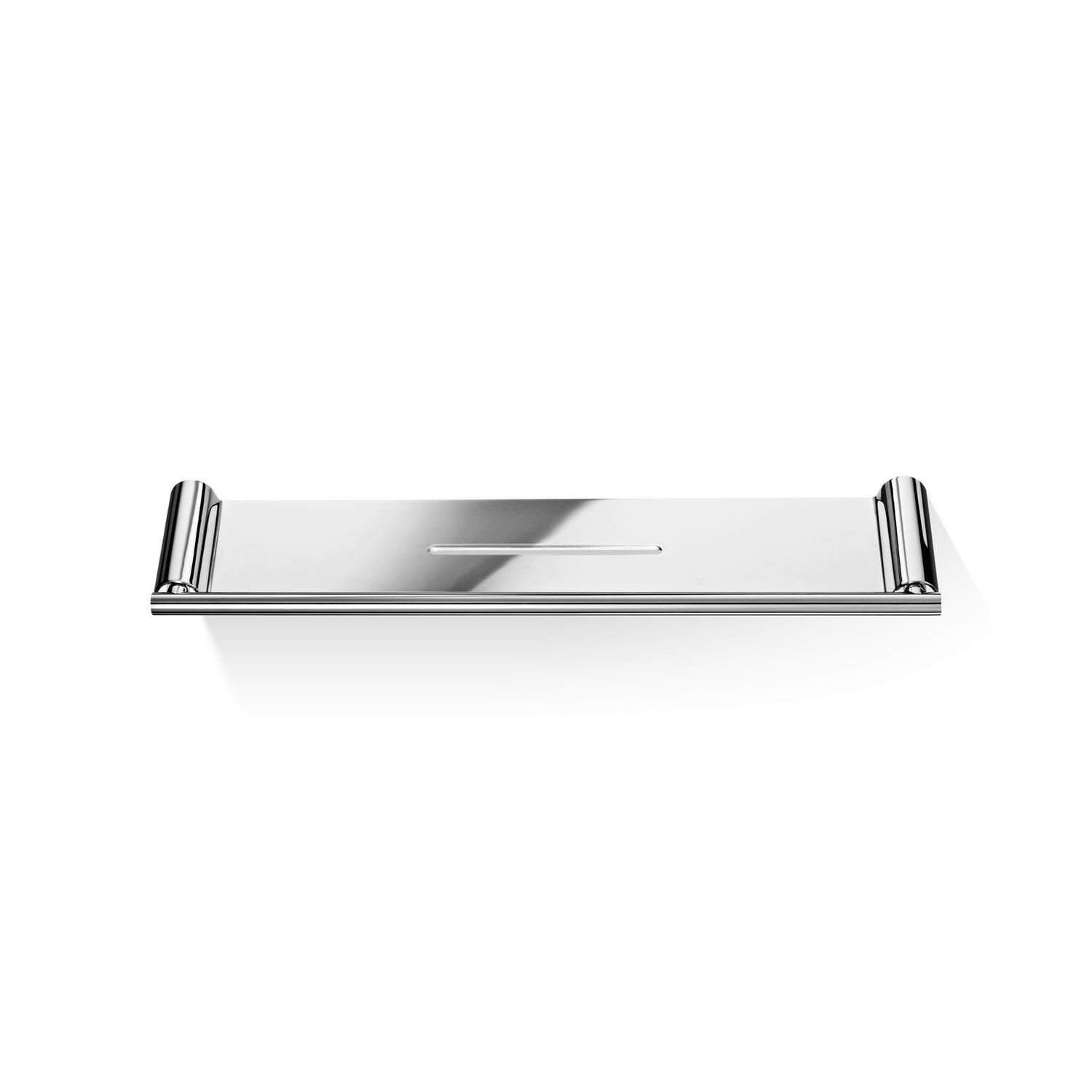 Wall-mounted shelf / contemporary / stainless steel / chrome-plated ...