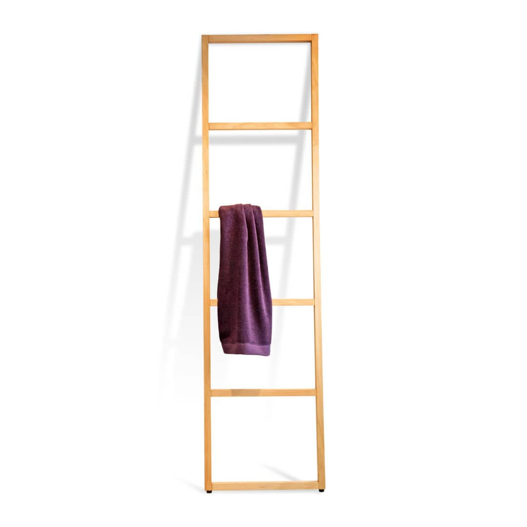 Ladder towel rack / floor-standing / wooden - WOOD: WO HTL