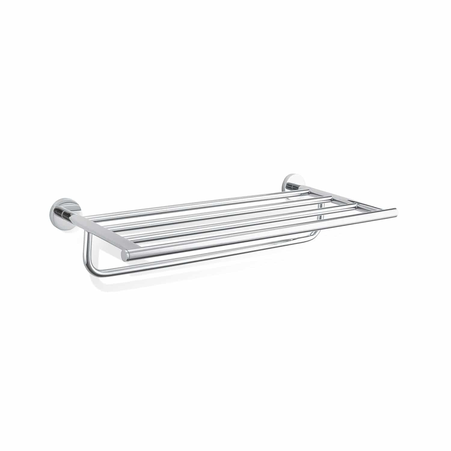 Wall-mounted shelf / contemporary / chrome-plated brass / bathroom ...