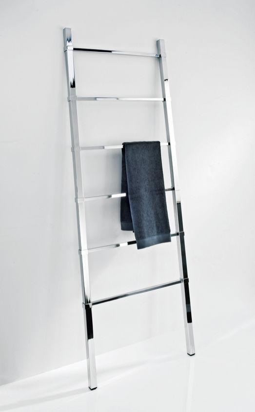 chrome floor towel rack