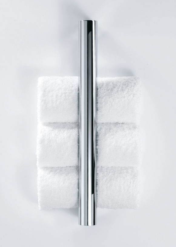 1-bar towel rack / wall-mounted / chrome-plated brass - TUBE: TB ...