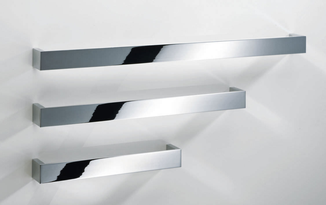 Chrome Towel Rack Wall Mounted Part - 15: 1-bar Towel Rack / Wall-mounted / Chrome-plated Brass BRICK: ...
