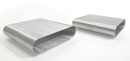 Contemporary Coffee Table Aluminum Square Holo By Maurizio Fardo Maoli