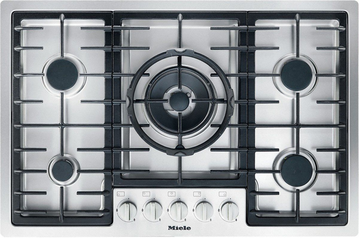 Gas cooktop / with grill / cast iron / wok - KM 2335 - Miele