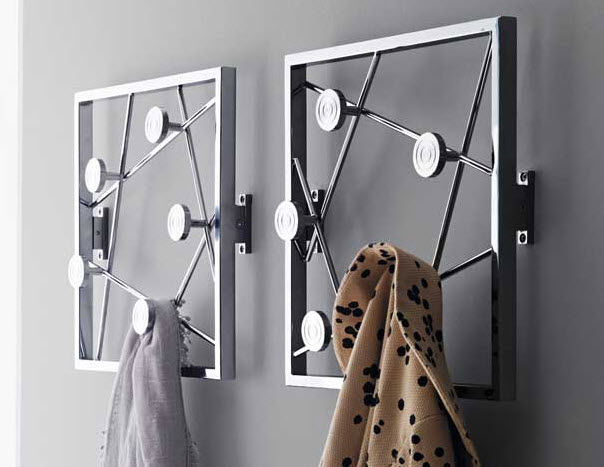 Wall Mounted Coat Rack Contemporary Metal Quadro By Tech