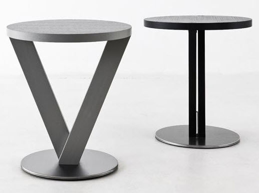 ... Contemporary Side Table / Wooden / Round VICTOR Flai
