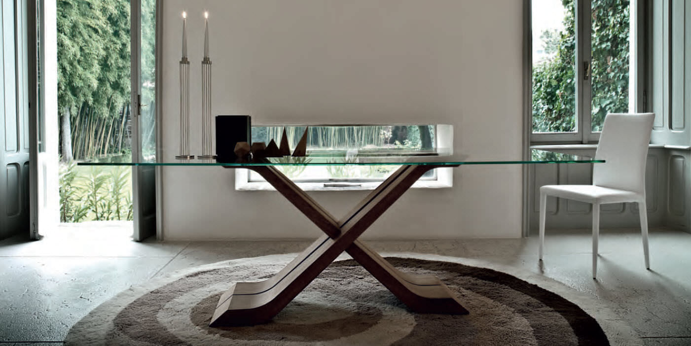 Beautiful Mesa Comedor Cristal Y Madera Photos - Casa & Diseño Ideas ...