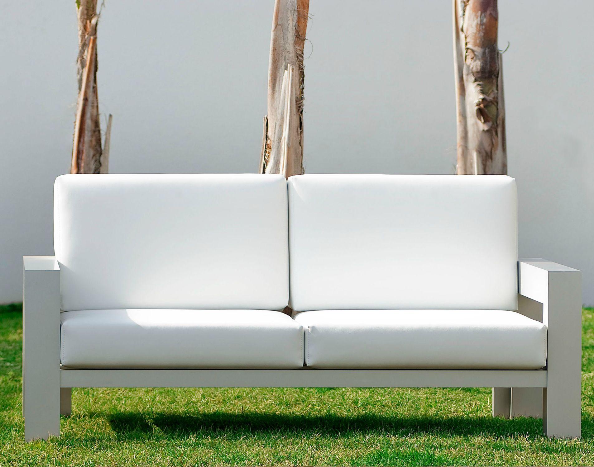 Contemporary Sofa Garden Fabric 2 Seater Laguna Blue 2  # Muebles Tadel Grup