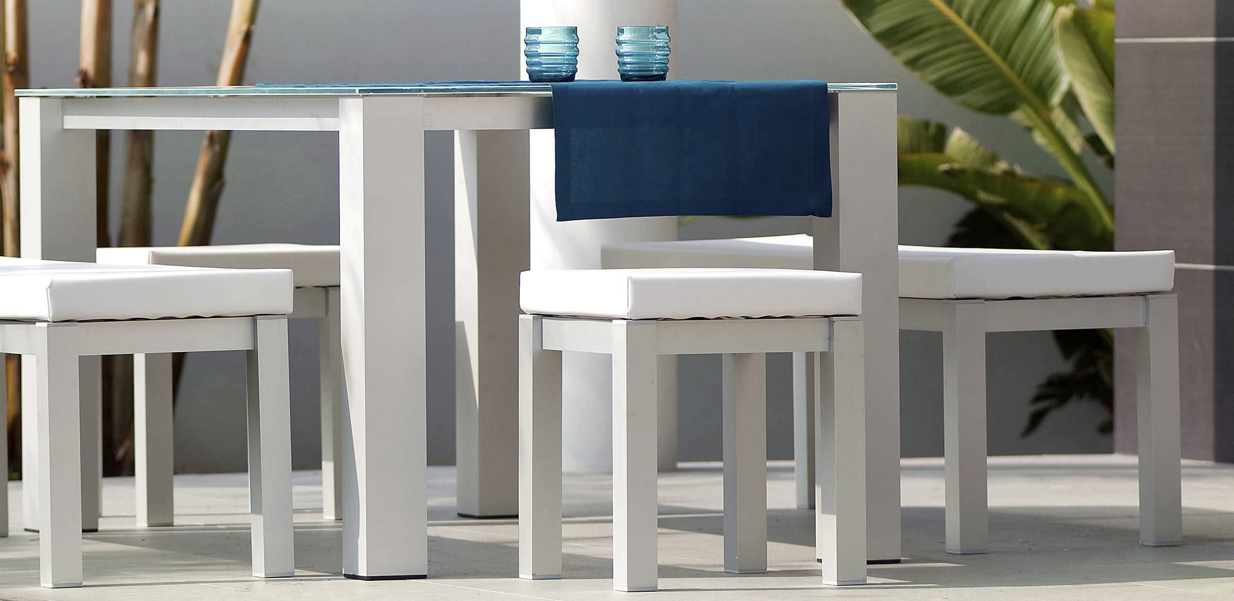 Contemporary Table Wooden Rectangular Garden Laguna Blue  # Muebles Tadel Grup
