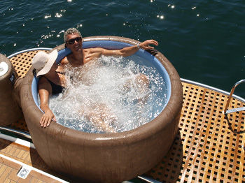 Attractive ... Above Ground Hot Tub / Circular / 2 Seater / With Integrated LED  Lighting