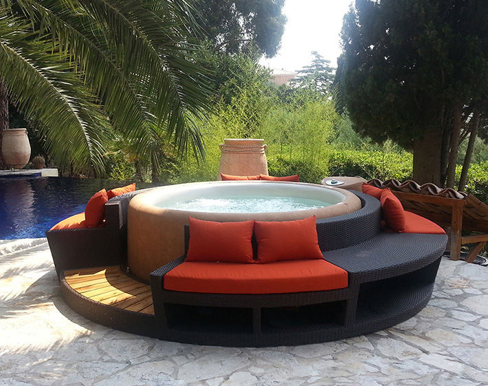 in ground hot tub plans covers kits uk above circular outdoor concept lounge