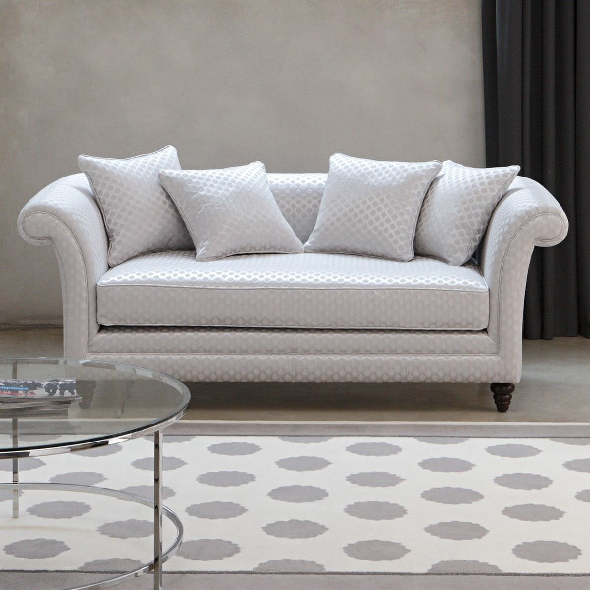 Traditional Sofa / Fabric / 2 Person / White   VISCONTI By Coralie Feildel  Halard
