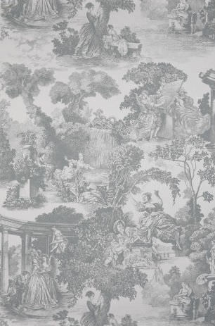 Traditional Wallpaper Patterned Scenic