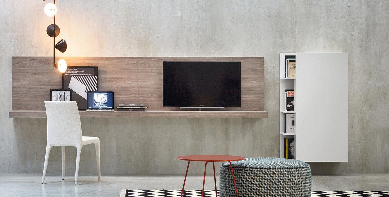 wooden desk  contemporary  wallmounted  with shelf  elle  -  wooden desk  contemporary  wallmounted  with shelf elle novamobili