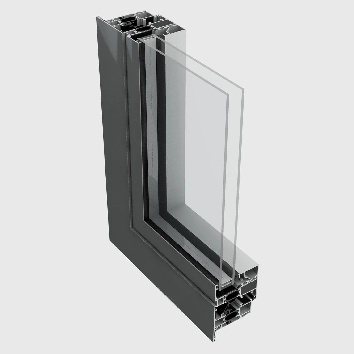 Aluminum window profile / thermally-insulated - 72BW - ALUK GROUP
