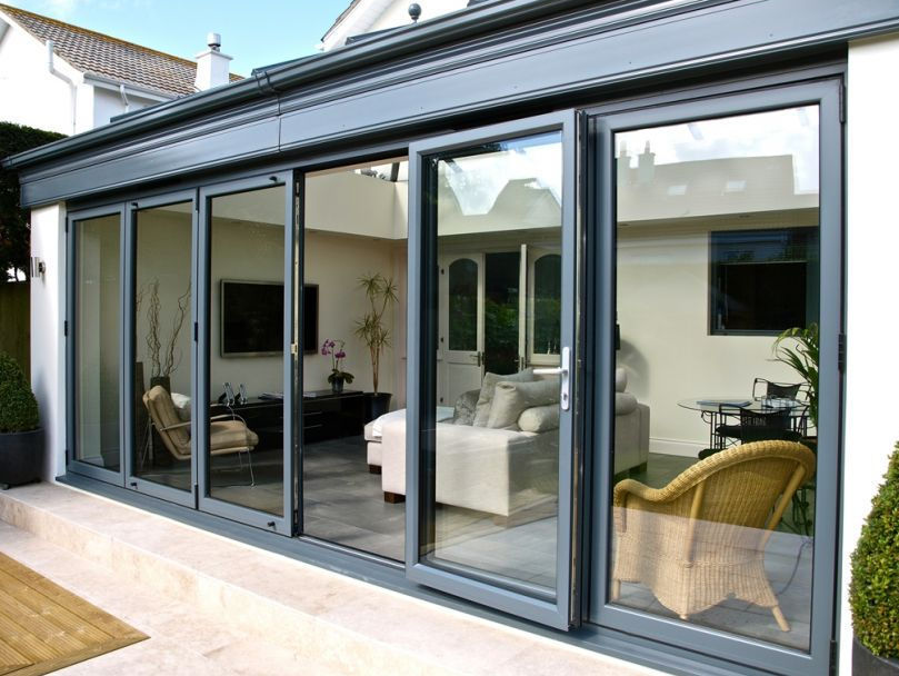 folding french door aluminum double glazed bi fold aluk group