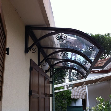 Entrance canopy / polycarbonate / aluminum / arched - DORA & Entrance canopy / polycarbonate / aluminum / arched - DORA - CO.IN ...