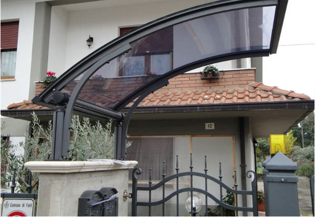 Garden gate canopy / polycarbonate / aluminum - SONIA & Garden gate canopy / polycarbonate / aluminum - SONIA - CO.IN.