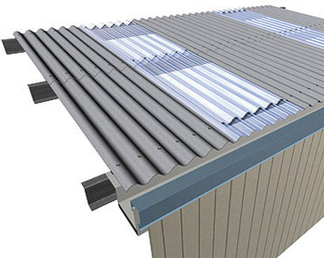 Polycarbonate roofing sheet translucent corrugated ARCOPLUS