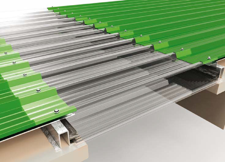 Polycarbonate Roofing Sheet Translucent Corrugated Tegoplus Dott Gallina