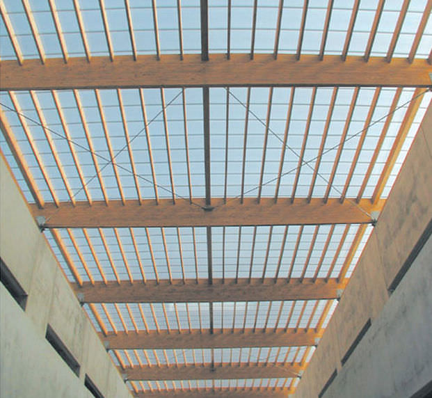 Polycarbonate roofing sheet / translucent / corrugated - ARCOPLUS ...