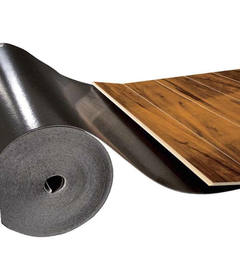 Roll Resilient Underlay Polyethylene With Vapor Barrier Wood