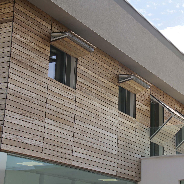 Wood wall cladding / HPL / exterior / imitation wood - IMPRONTA