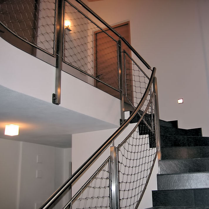 Stainless Steel Railing / Wire Mesh / Indoor / For Stairs
