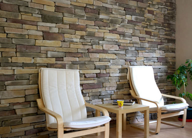 Natural Stone Wall Cladding Panel / Interior   SIERRA MULTICOLOR