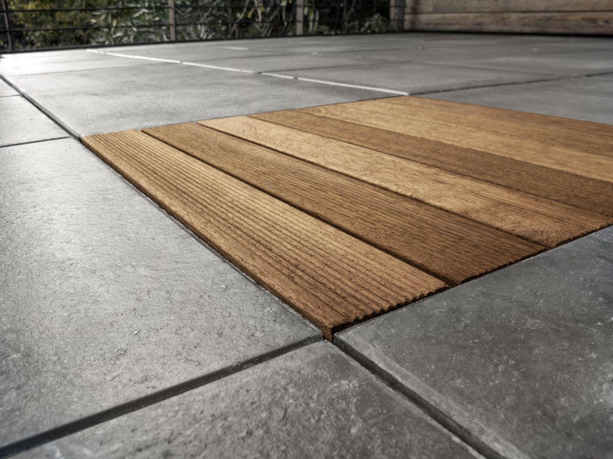Outdoor Tile Floor Concrete Plain Liscia Grigia Favaro1