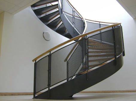 Metal Railing / Perforated Sheet Metal / Outdoor / For Stairs