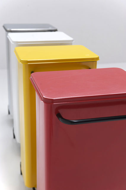 Kitchen Trash Can / Stainless Steel / With Wheels / Contemporary RETTANGOLA  GRAEPEL ITALIANA ...