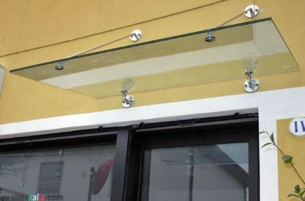 Window Canopy For Door Glass Metal Classic Gc Trade