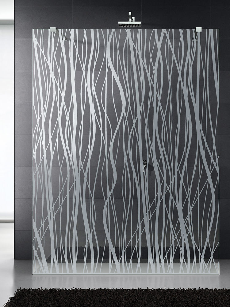 glass shower panel float glass patterned fili mat spa
