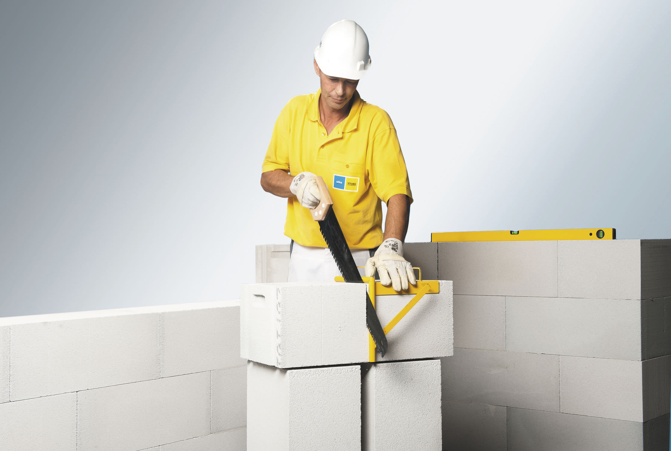 Cellular concrete block for walls insulated thermal stone