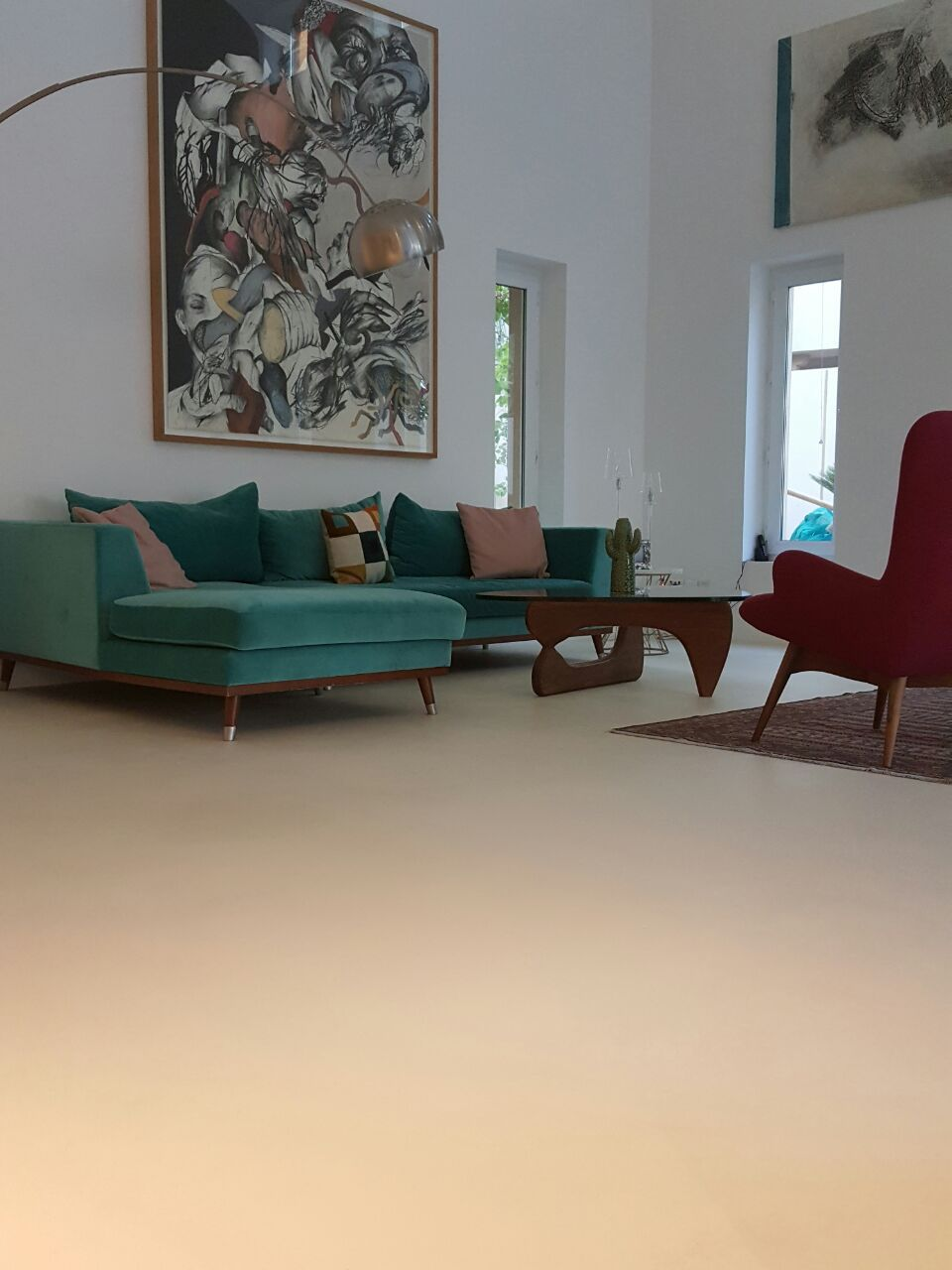 Cement Flooring Polymer Tertiary Concrete Look