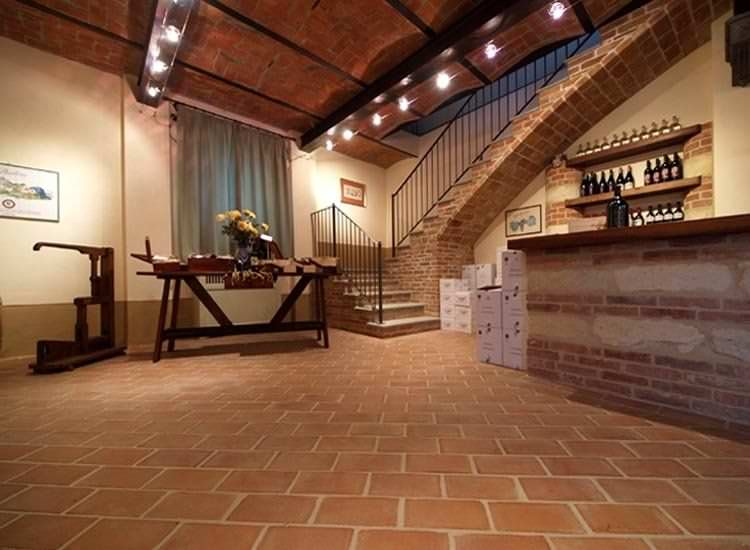 Indoor Tile Floor Terracotta Matte Quadrate Fornace