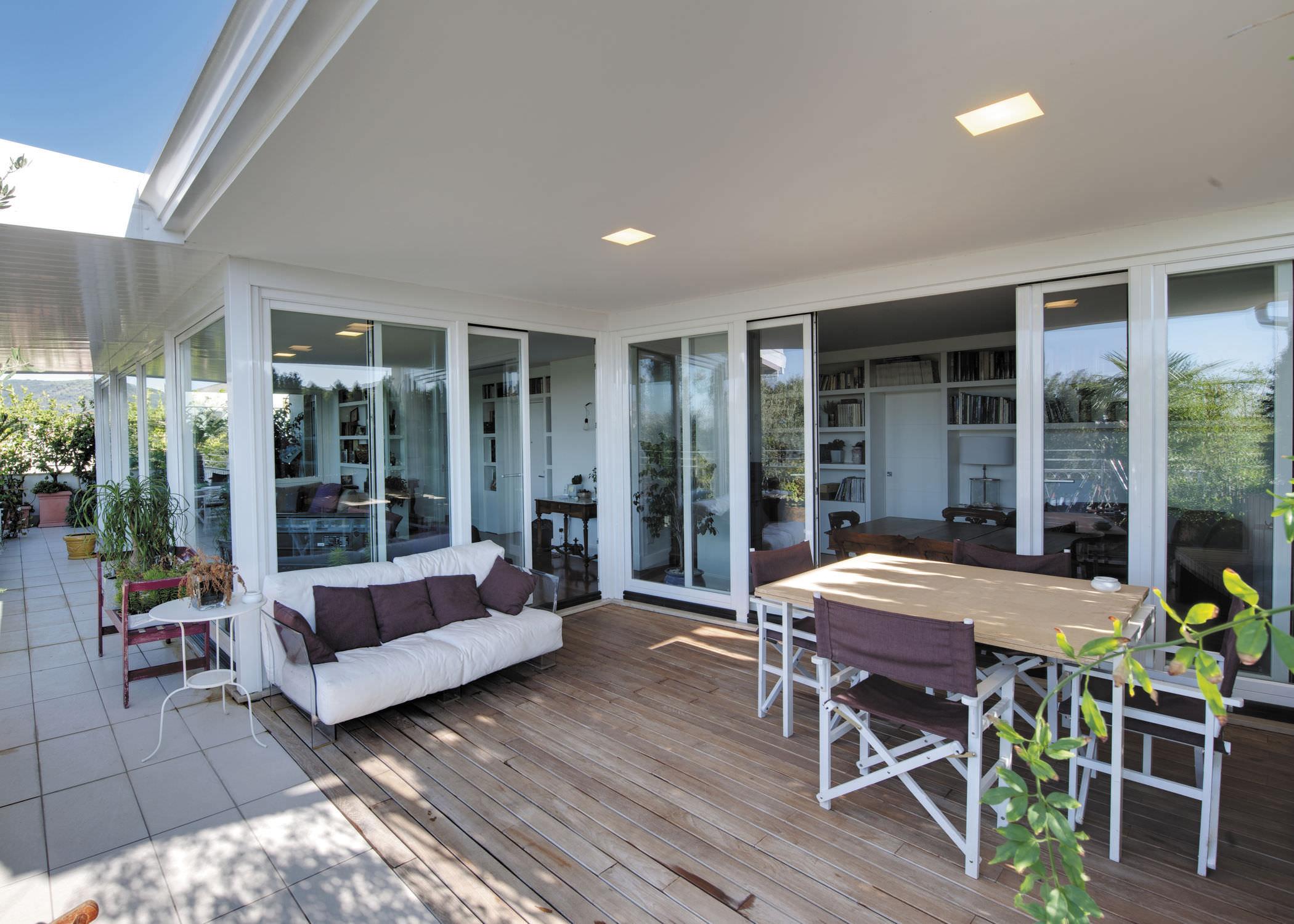 Sliding patio door wooden aluminum double glazed SCIUKER