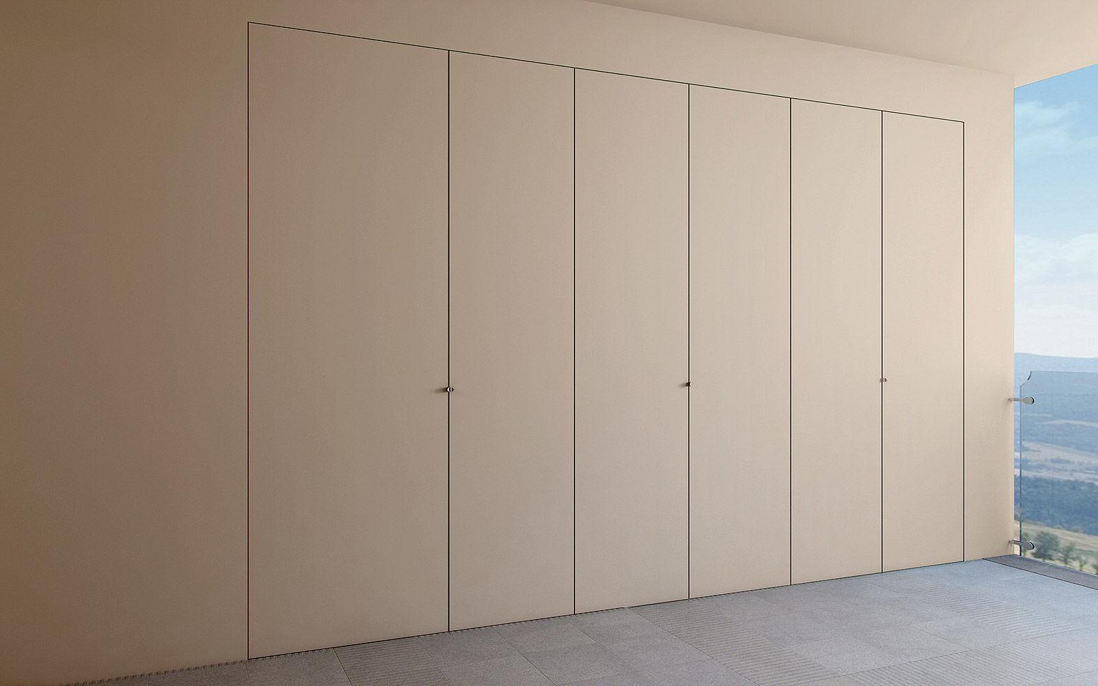 Closet Door Swing Solid Wood Aluminum Filoparete