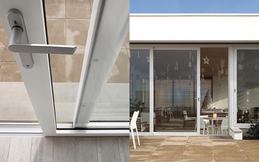 Tilt And Slide Patio Door Aluminum Quadruple Glazed Thermal