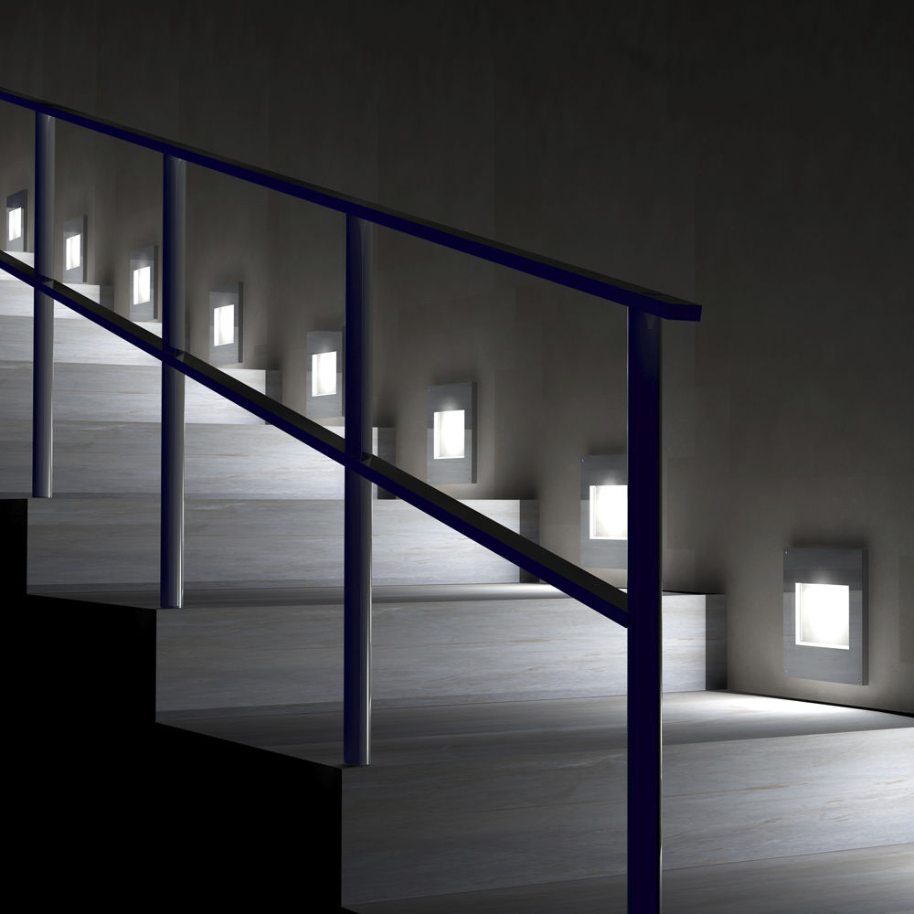 light fixture recessed wall led square dorix ragni
