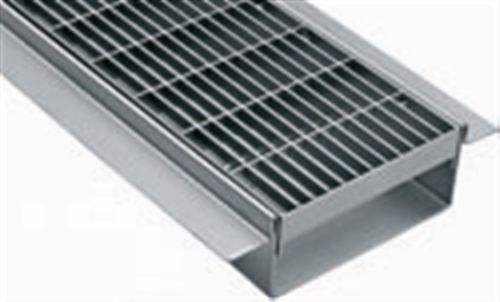 Patio Drainage Channel / Stainless Steel / With Grating   CB.070