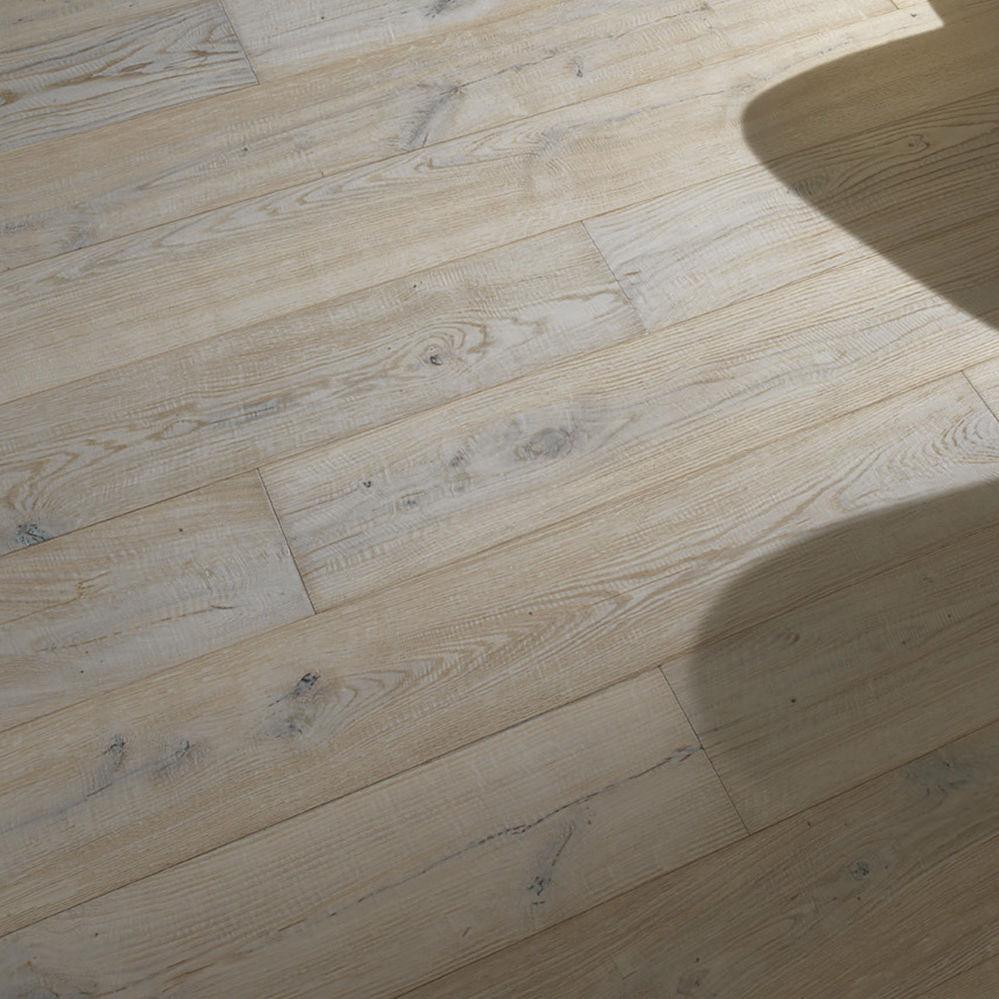 Engineered parquet floor / glued / colored / wide plank - BLEACH ...