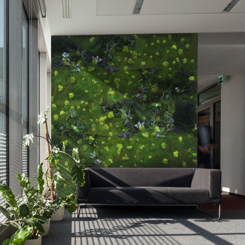 Indoor green wall - MOSS WITH LEAVES - ADRIANI E ROSSI EDIZIONI