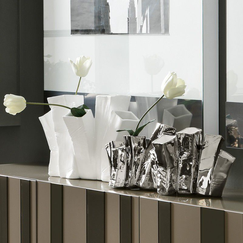 Original design vase / ceramic - SKYLINE UP - ADRIANI E ROSSI EDIZIONI